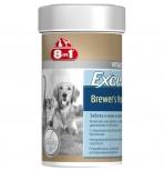 8in1 Пивные дрожжи EXСEL Brewers Yeast 260 табл./185 ml для собак и кошек