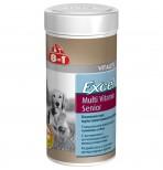 8in1 Мультивитамины д/пожилых собак 70 табл./250 ml